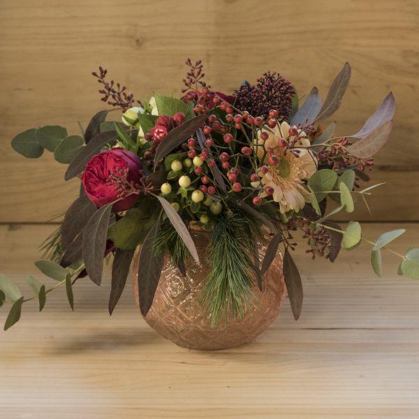 bouquet en jarron nude